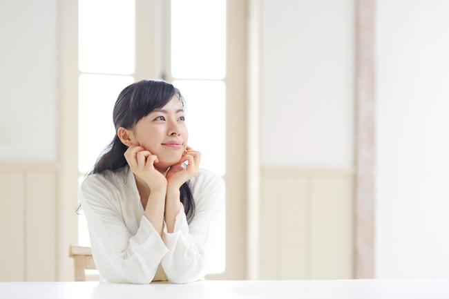 Comfortable woman enjoying air conditioning