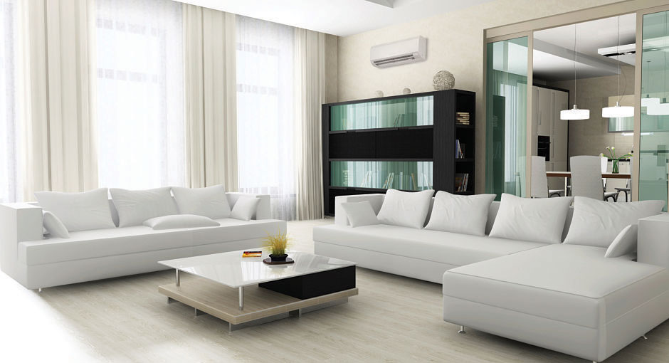mitsubishi ductless air conditioner in living room