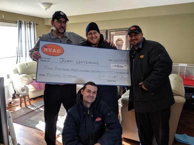 Winner Free Furnace Giveaway